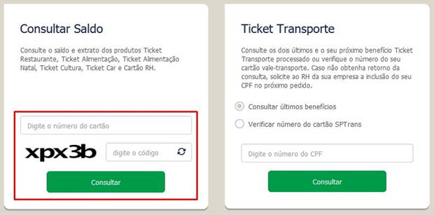 consultar ticket restaurante saldo
